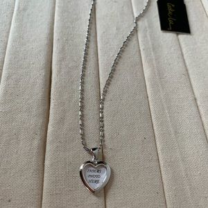 Cookie Lee NWT Necklace w/Heart Photo Emblem